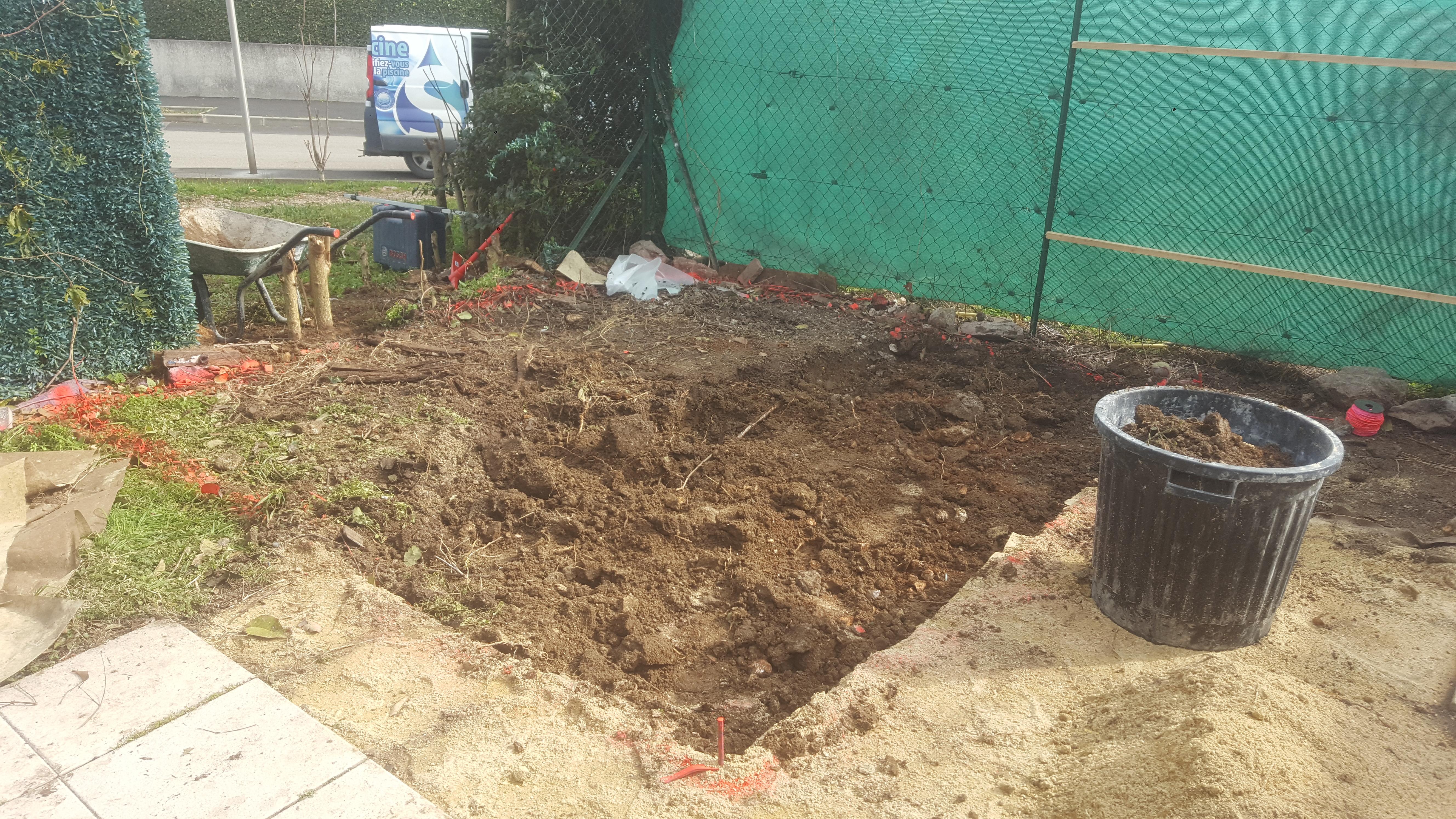 Préparation du sol pour poser le SPA